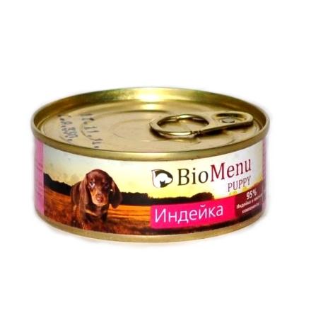 BioMenu Puppy Консервы для Щенков Индейка Цена за упаковку 100x24