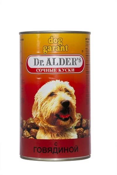 Dr Alders Dog Garant / Консервы Доктор Алдерс для собак всех пород Говядина (цена за упаковку)