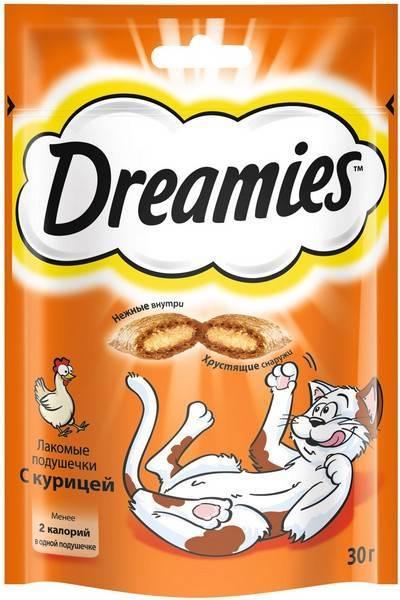Dreamies / Лакомство Дримис для кошек Подушечки с Курицей