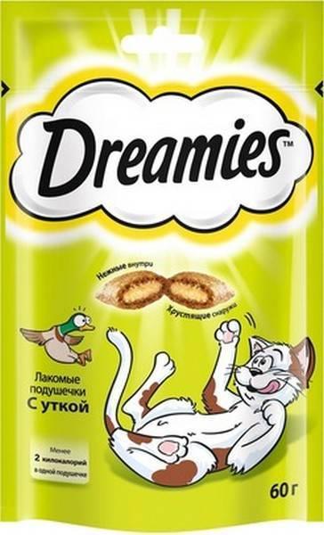 Dreamies / Лакомство Дримис для кошек Подушечки с Уткой