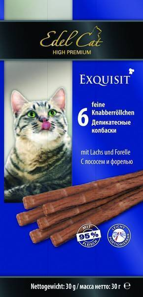 Edel Cat Жевательные Колбаски для кошек Лосось и Форель