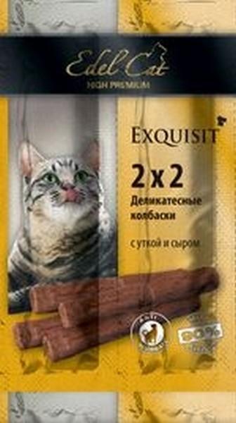 Edel Cat Деликатесные Колбаски-мини для кошек Утка и Сыр 1х4