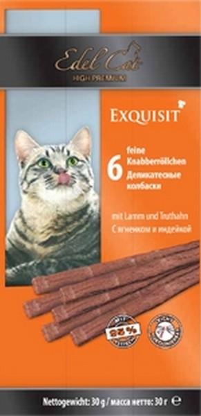 Edel Cat Жевательные Колбаски для кошек Ягненок и Индейка