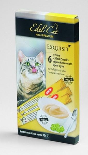 Edel Cat Лакомство для кошек Крем-Суп Птица и Печень
