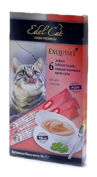 Edel Cat Лакомство для кошек Крем-Суп Лосось