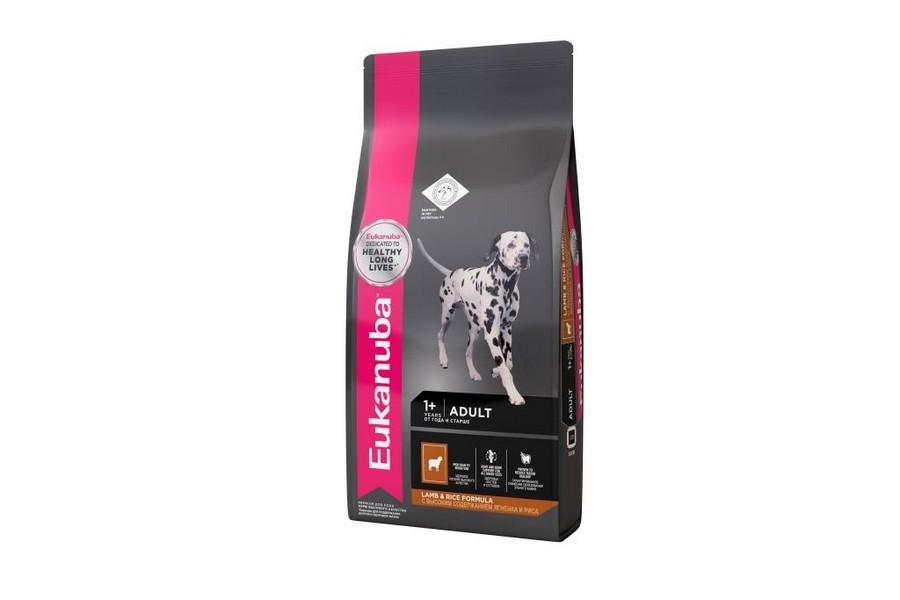 Eukanuba Adult All  Breed Lamb & Rice / Сухой корм Эукануба для взрослых собак всех пород с Ягненком и рисом