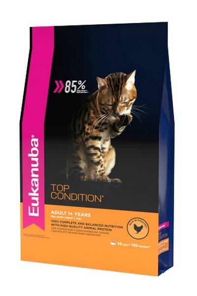 Eukanuba Top Condition Adult Chicken / Сухой корм Эукануба для взрослых кошек с домашней птицей