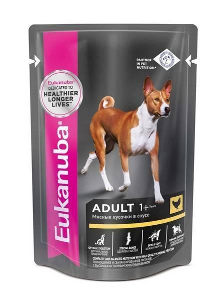 Eukanuba Dog Pouch Adult Chicken / Влажный корм Паучи Эукануба для взрослых собак с Курицей в соусе (цена за упаковку)