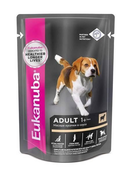 Eukanuba Dog Pouch Adult Lamb / Влажный корм Паучи Эукануба для взрослых собак с Ягненком в соусе (цена за упаковку)