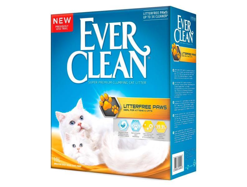 Ever Clean LitterFree Paws / Наполнитель для кошачьего туалета комкующийся Эвер Клин для Котят и Длинношерстных кошек Жёлтый