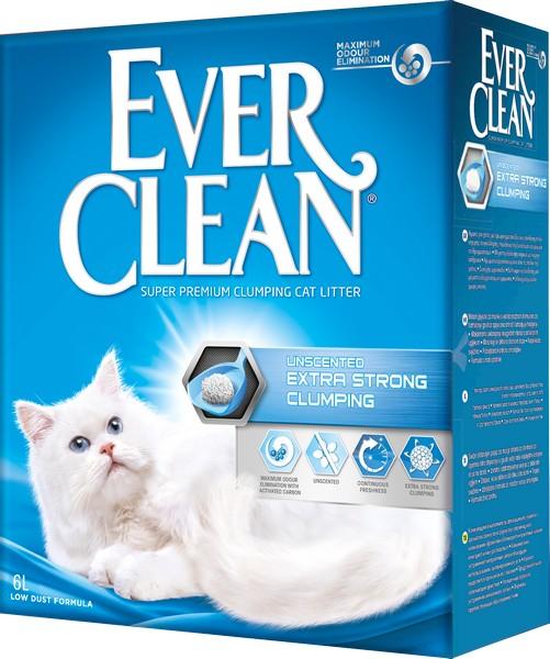 Ever Clean Extra Strong Unscented / Наполнитель для кошачьего туалета комкующийся Эвер Клин без ароматизатора Голубой