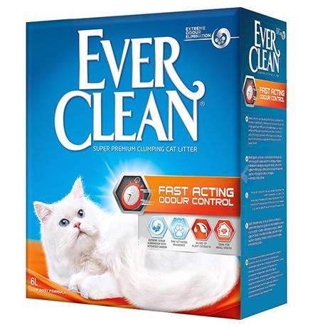 Ever Clean Fast Acting / Наполнитель Эвер Клин для кошачьего туалета комкующийся Мгновенный контроль запахов