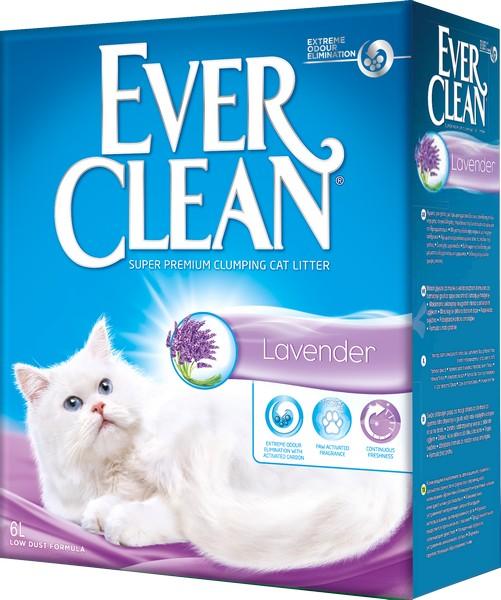 Ever Clean Lavender / Наполнитель для кошачьего туалета комкующийся Эвер Клин Лаванда