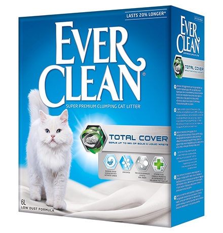 Ever Clean Total Cover / Наполнитель Эвер Клин для кошачьего туалета комкующийся с Микрогранулами Двойного действия