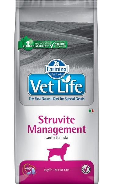 Farmina Vet Life Struvite Management / Лечебный корм Фармина для собак Лечение и профилактика Уролитиаза и идиопатического Цистита