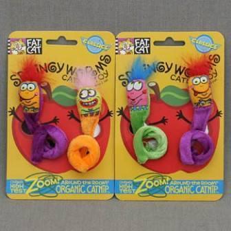 Fat Cat Springy Worms Toy / Игрушка Фэт Кэт мягкая для кошек
