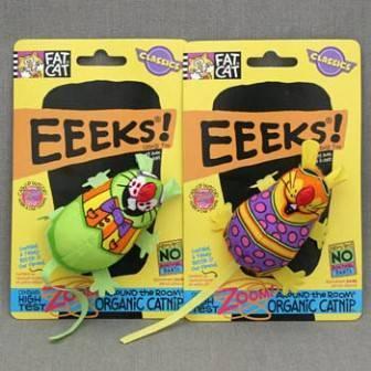 Fat Cat Eeeks Toy / Игрушка Фэт Кэт мягкая для кошек