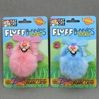 Fat Cat Fluff Bunnies Toy / Игрушка Фэт Кэт мягкая для кошек