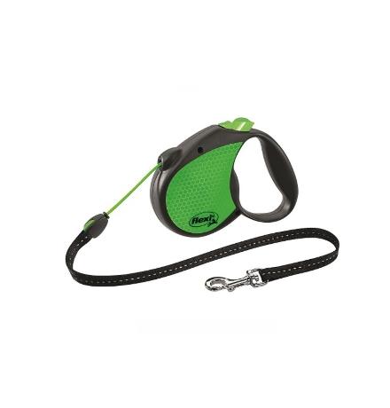 Flexi Neon Reflect S Limited Edition / Флекси рулетка для собак весом до 12 кг Трос 5 м