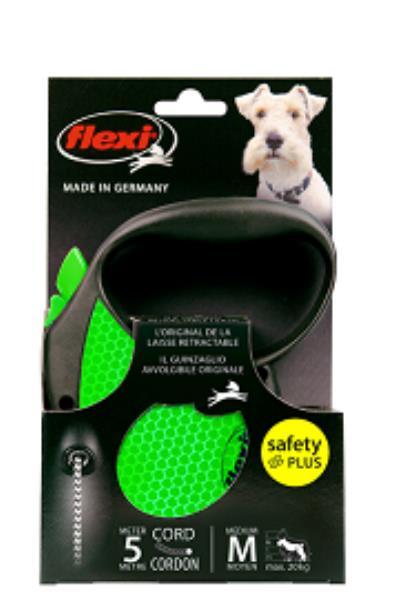 Flexi Neon Reflect M Limited Edition / Флекси рулетка для собак весом до 20 кг Трос 5 м