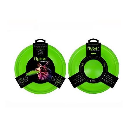 Flyber / Игрушка Флайбер для собак Двусторонняя Летающая тарелка Зеленая