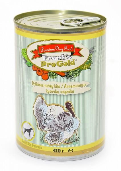 Franks ProGold Delicious turkey bits Adult Dog Recipe / Консервы Фрэнкс ПроГолд для собак
