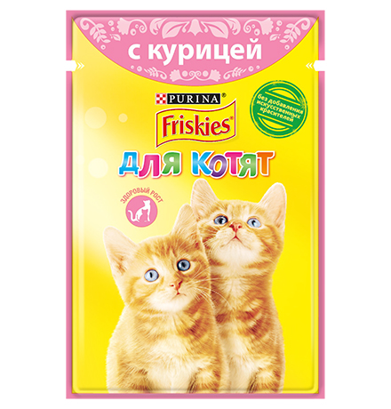 Friskies / Паучи Фрискис для Котят с Курицей (цена за упаковку)