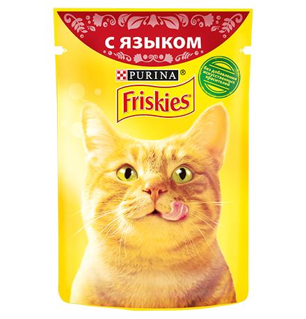 Friskies / Паучи Фрискис для кошек с Языком (цена за упаковку)