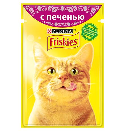 Friskies / Паучи Фрискис для кошек с Печенью (цена за упаковку)