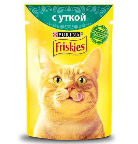 Friskies / Паучи Фрискис для кошек с Уткой (цена за упаковку)