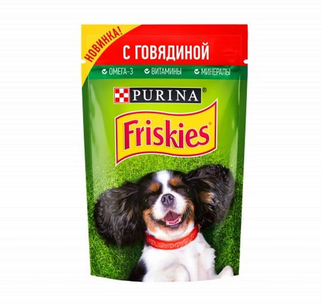 Friskies / Паучи Фрискис для собак с Говядиной (цена за упаковку)