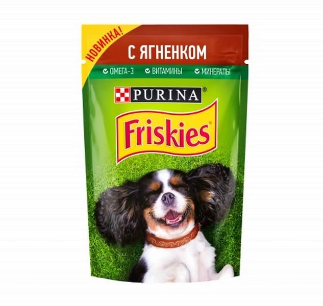 Friskies / Паучи Фрискис для собак с Ягненком (цена за упаковку)