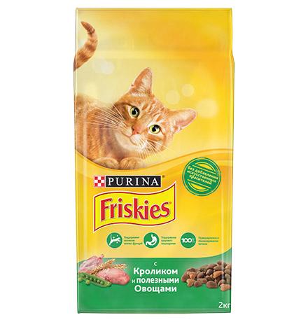 Friskies / Сухой корм Фрискис для кошек с Кроликом и полезными овощами