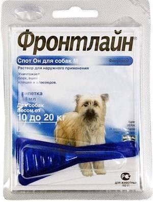 Merial Фронтлайн Спот-Он для собак 10-20 кг M пипетка 1,34 мл