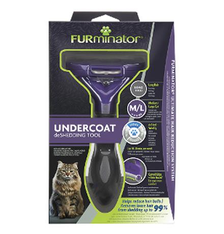 FURminator Medium/Large Cat Long Hair / Фурминатор для кошек Средних и Крупных пород с Длинной шерстью