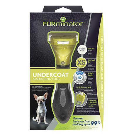 FURminator XS Extra Small Dog Short Hair / Фурминатор для собак Карликовых собак с Короткой шерстью