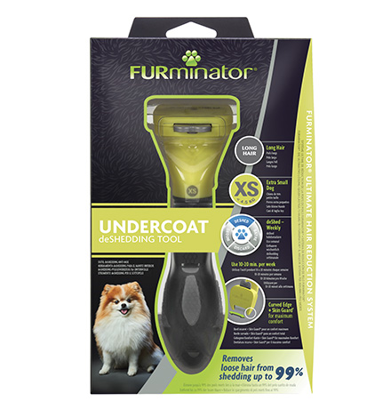 FURminator XS Extra Small Dog Long Hair / Фурминатор для собак Карликовых пород с Длинной шерстью