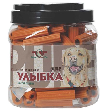 Green Qzin Улыбка Pure №13 / Лакомство Грин Кьюзин для собак Мягкие жевательные палочки чистая печень