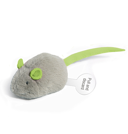GiGwi Cat Toys / Игрушка Гигви для кошек Мышка со звуковым чипом Ткань