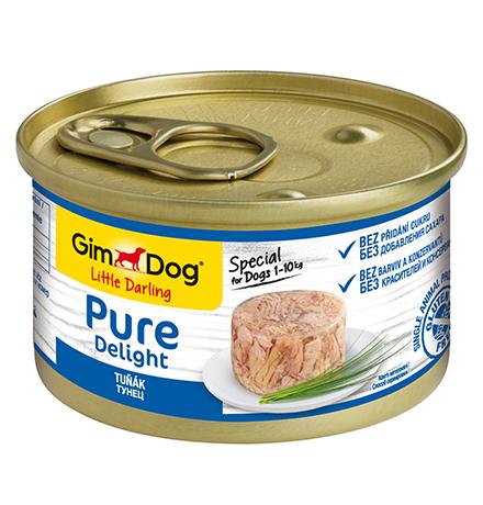 GimDog Pure Delight / Консервы Джимдог для собак Тунец (цена за упаковку)