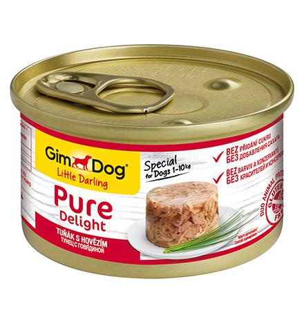 GimDog Pure Delight / Консервы Джимдог для собак Тунец с говядиной (цена за упаковку)