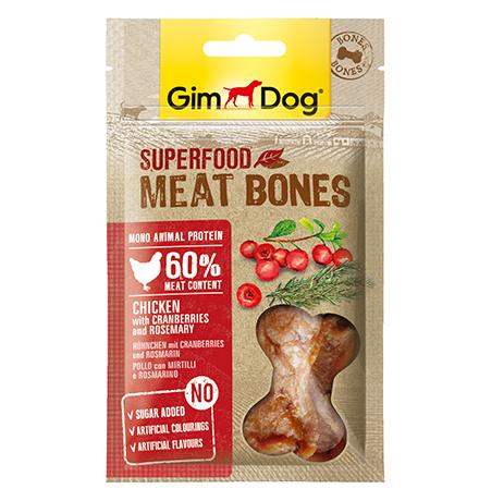 GimDog Superfood Meat Bones Chicken Cranberries Rosemary / Лакомство Джимдог для собак Мясные косточки Курица клюква розмарин