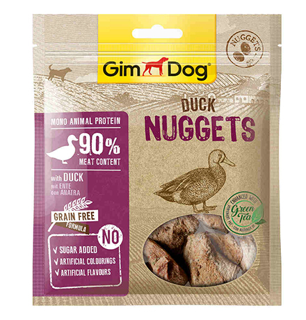 GimDog Duck Nuggets / Лакомство Джимдог для собак Наггетсы Утиные