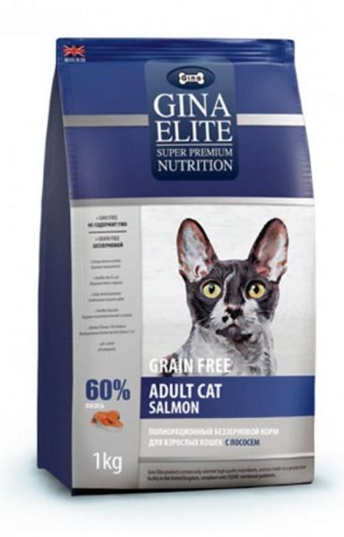 Gina Elite Adult Cat GF Salmon / Сухой корм Джина для взрослых кошек Лосось