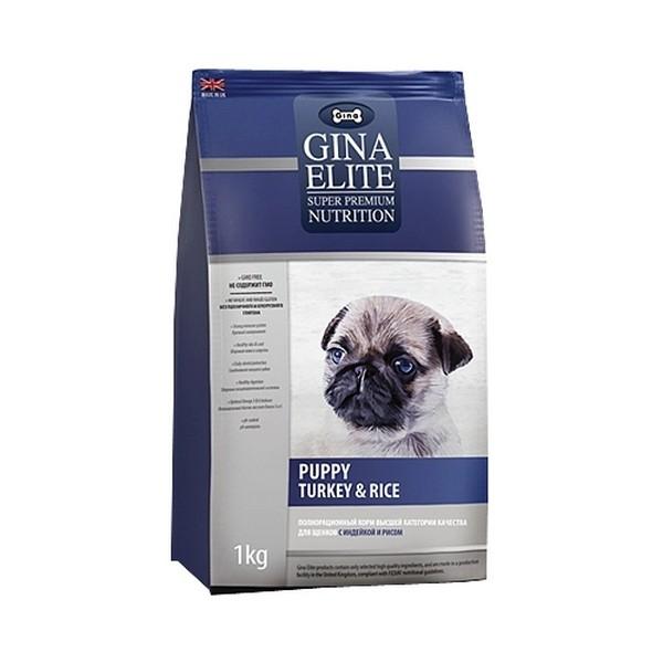 Gina Elite Puppy Turkey & Rice / Сухой корм Джина для Щенков, беременных и кормящих собак