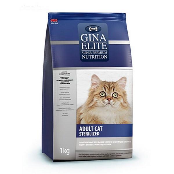 Gina Elite Adult Cat Sterilized / Сухой корм Джина для Стерилизованных кошек