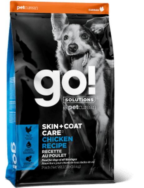 GO! Skin + Coat Care Chicken Recipe / Сухой корм Гоу для Щенков и собак Цельная Курица Фрукты Овощи