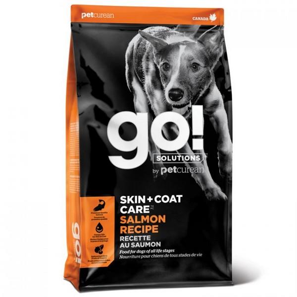 GO! Skin + Coat Care Salmon Recipe / Сухой Беззерновой корм Гоу для Щенков и собак свежий Лосось овсянка