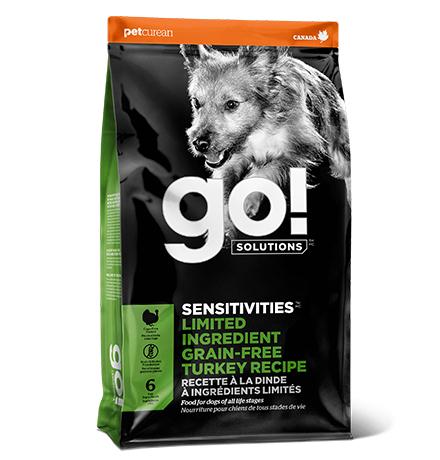 GO! Sensitivities Limited Ingredient Grain FreeTurkey Recipe DF / Сухой Беззерновой корм Гоу для Щенков и собак с Чувствительным пищеварением Индейка