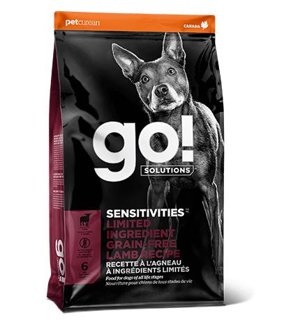GO! Sensitivities Limited Ingredient Grain FreeLamb Recipe / Сухой Беззерновой корм Гоу для Щенков и собак с Чувствительным пищеварением Ягненок